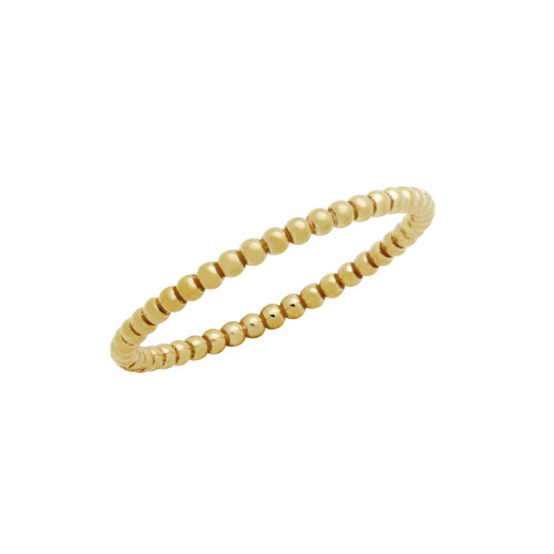 ROSE GOLD PLATED 1.5MM BEADED STACKABLE RING