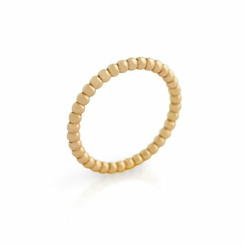 ROSE GOLD PLATED BEAD DESIGN STACKABLE BAND (SZ 9-12)