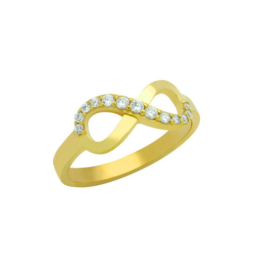 GOLD PLATED GRADUATING CZ INFINITY RING