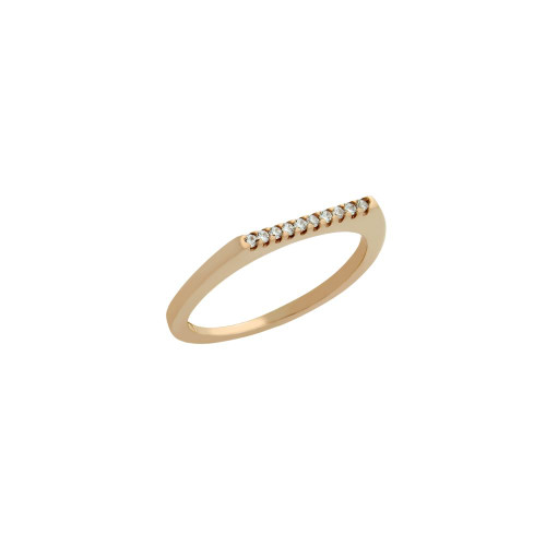 ROSE GOLD PLATED SINGLE ROW CZ KNUCKLE RING