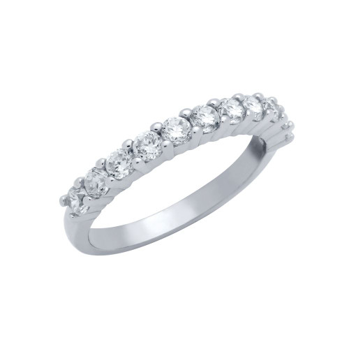 HALF ETERNITY ROUND CZ BAND