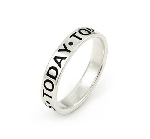 INSPIRATIONAL BAND 4MM TODAY TOMORROW ALWAYS