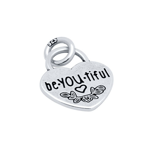 "15MM ""BE.YOU.TIFUL"" HEART CHARM"