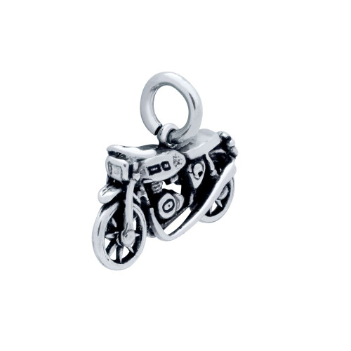 STERLING SILVER 21MM MOTORCYCLE CHARM