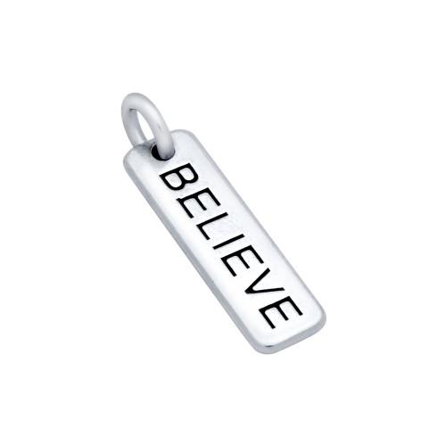 """BELIEVE"" TAG CHARM"