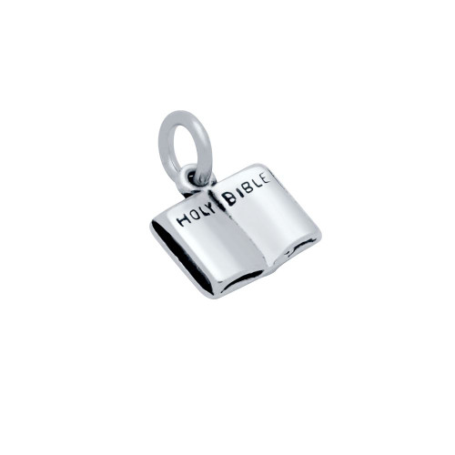 STERLING SILVER SMALL HOLY BIBLE CHARM