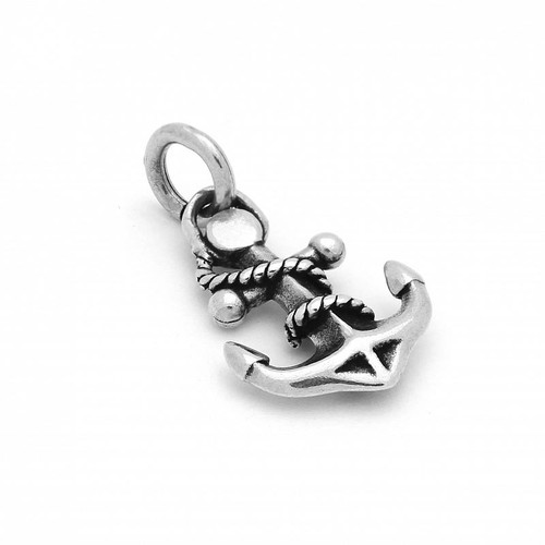 STERLING SILVER 13MM ORNATE ANCHOR CHARM