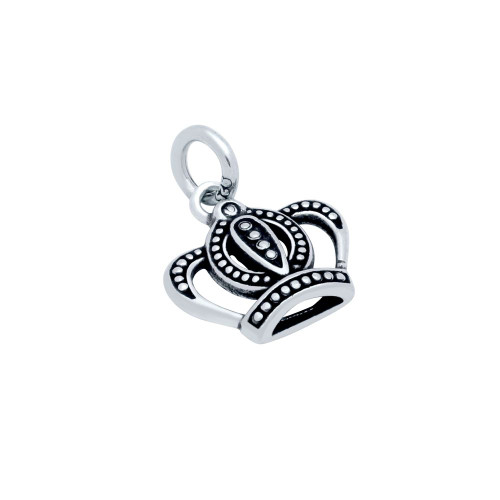 STERLING SILVER 15MM CROWN CHARM