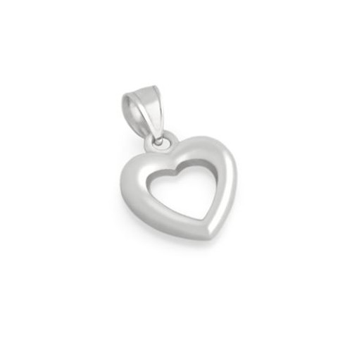 STERLING SILVER SMALL OUTLINE HEART PENDANT