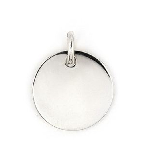 23MM ROUND PLAIN SILVER ID TAG