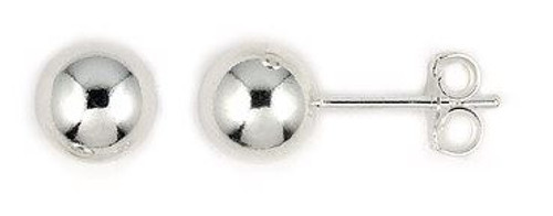 7MM BALL STUDS EARRINGS