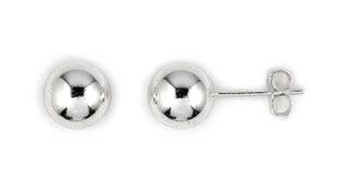 8MM BALL STUDS EARRINGS