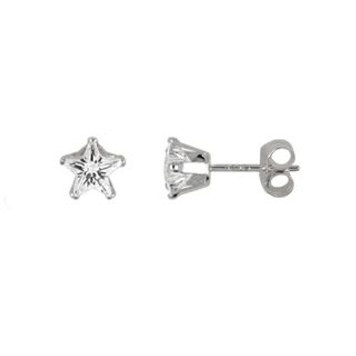 4MM STAR CZ STUD EARRINGS