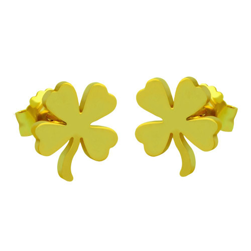 GOLD PLATED STERLING SILVER CLOVER EARRINGS