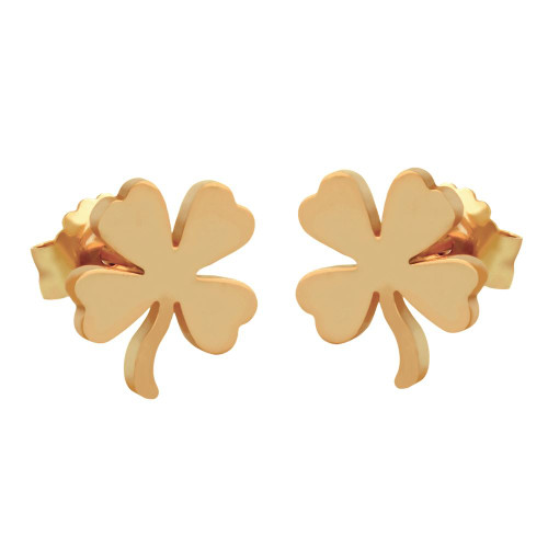 ROSE GOLD PLATED STERLING SILVER CLOVER EARRINGS