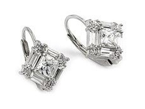 BAGUETTE CUT CLEAR CZ EARRINGS