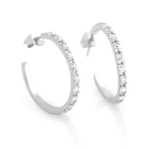 SMALL ETERNITY CZ 3/4 HOOP  EARRING