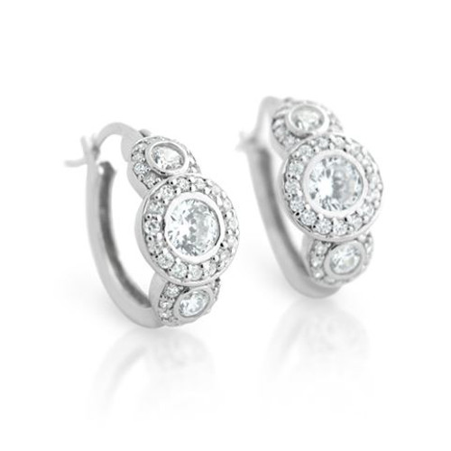 ELEGANT ROUND CZ EARRINGS
