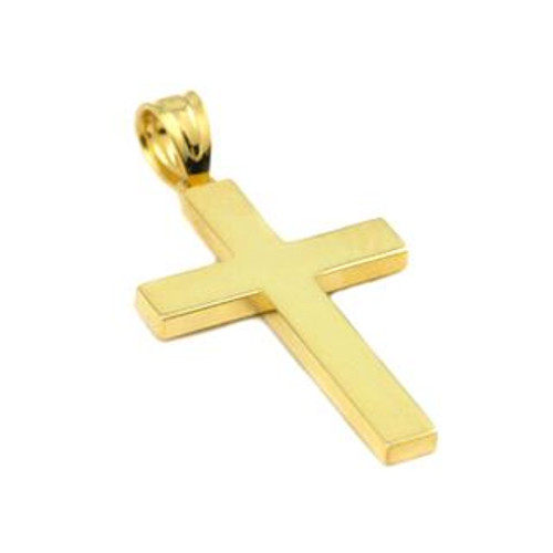 GOLD PLATED PLAIN CROSS PENDANT