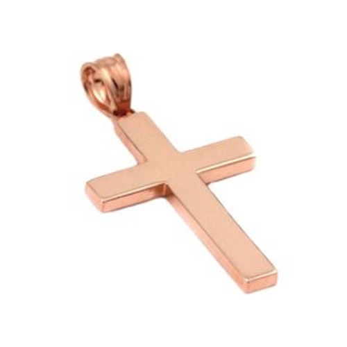 ROSE GOLD PLATED PLAIN CROSS PENDANT