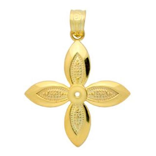 GOLD PLATED FLOWER DESIGN PENDANT
