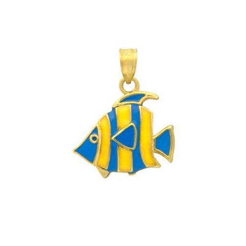 GOLD PLATED ENAMELED FISH CHARM