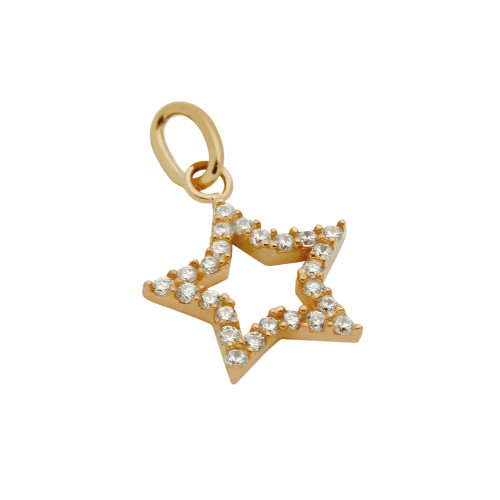ROSE GOLD PLATED CZ STAR PENDANT