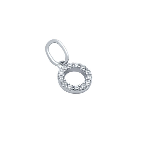 RHODIUM PLATED 7MM CZ ETERNITY CIRCLE PENDANT