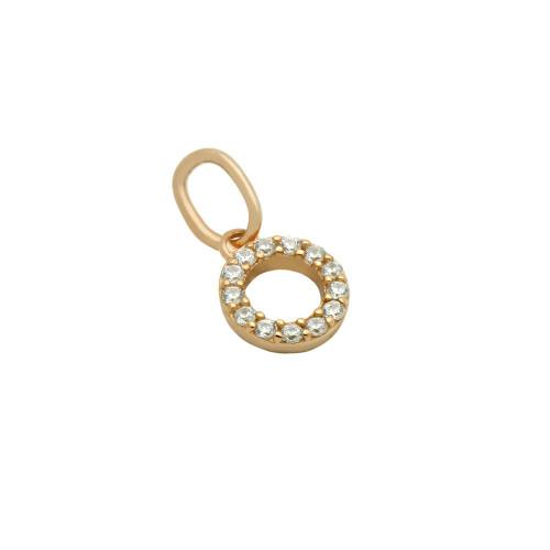 ROSE GOLD PLATED 7MM CZ ETERNITY CIRCLE PENDANT