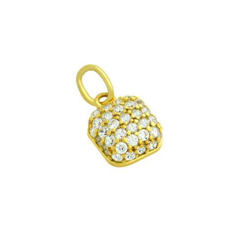 GOLD PLATED CUSHION-SHAPE CZ PENDANT