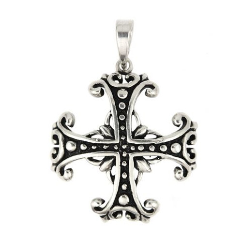 EQUAL ARMED DESIGN CROSS PENDANT