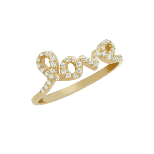 ROSE GOLD PLATED LOVE CZ RING