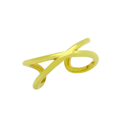 GOLD PLATED WRAPPED INFINITY ADJUSTABLE RING
