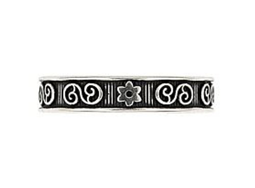 STERLING SILVER CELTIC AND FLORAL ADJUSTABLE TOE RING