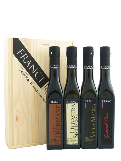 Frantoio Franci Large Wooden Box Gift Set