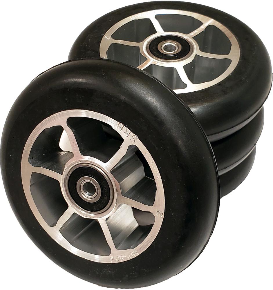4 Built 100x24 mm Rollerski Wheels