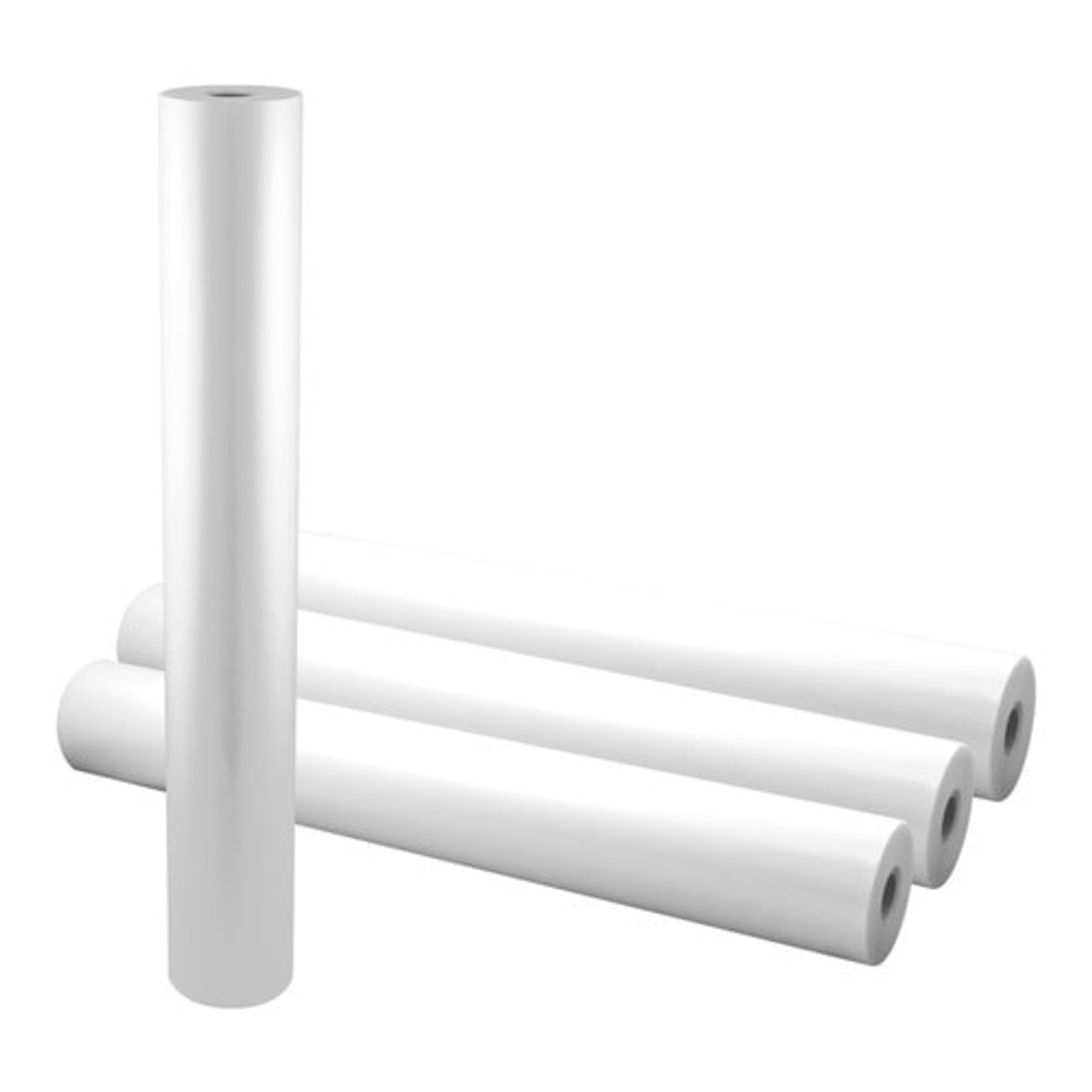 """2 Rolls Glossy Clear 25/"""" Wide 3 Mil Thermal Roll Lamination Film"""