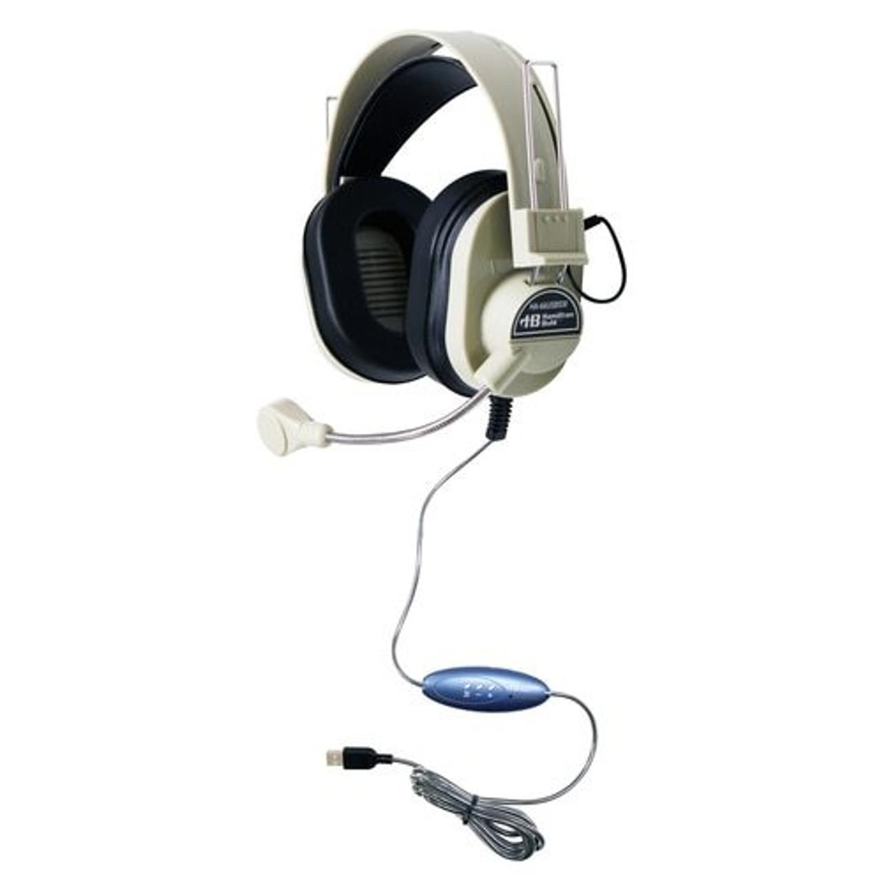 Deluxe Usb Headset With Gooseneck Microphone