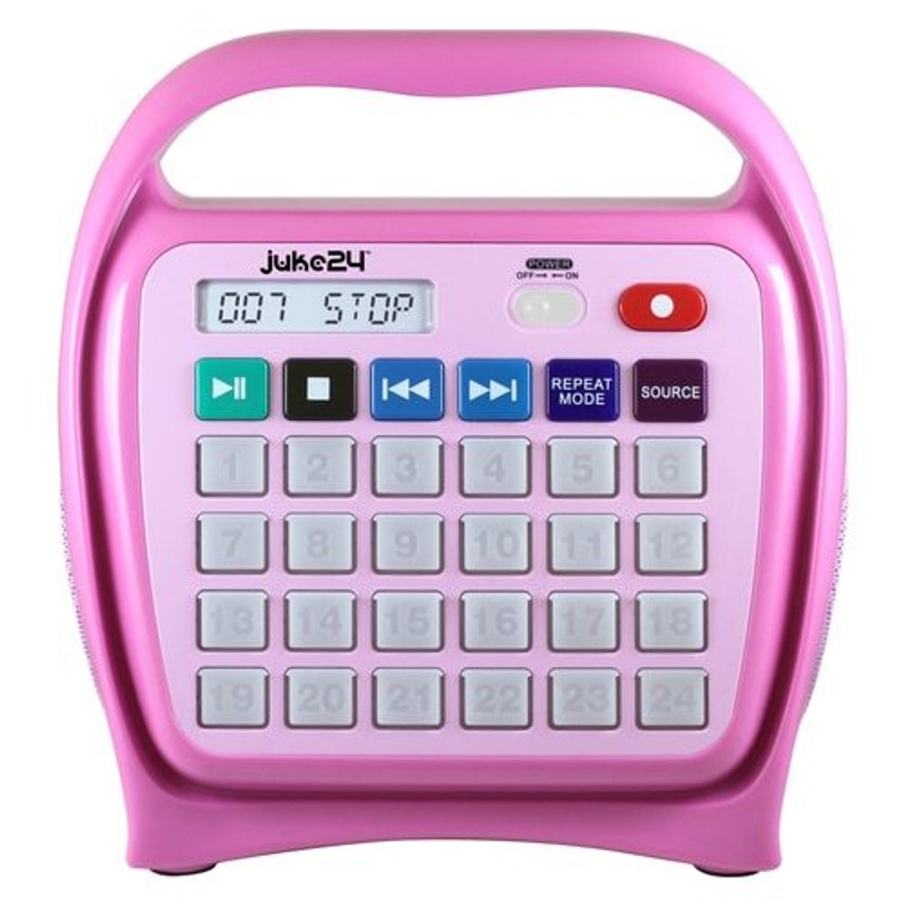 HamiltonBuhl Juke24 - Portable, Digital Jukebox with CD Player and Karaoke  Function - Pink