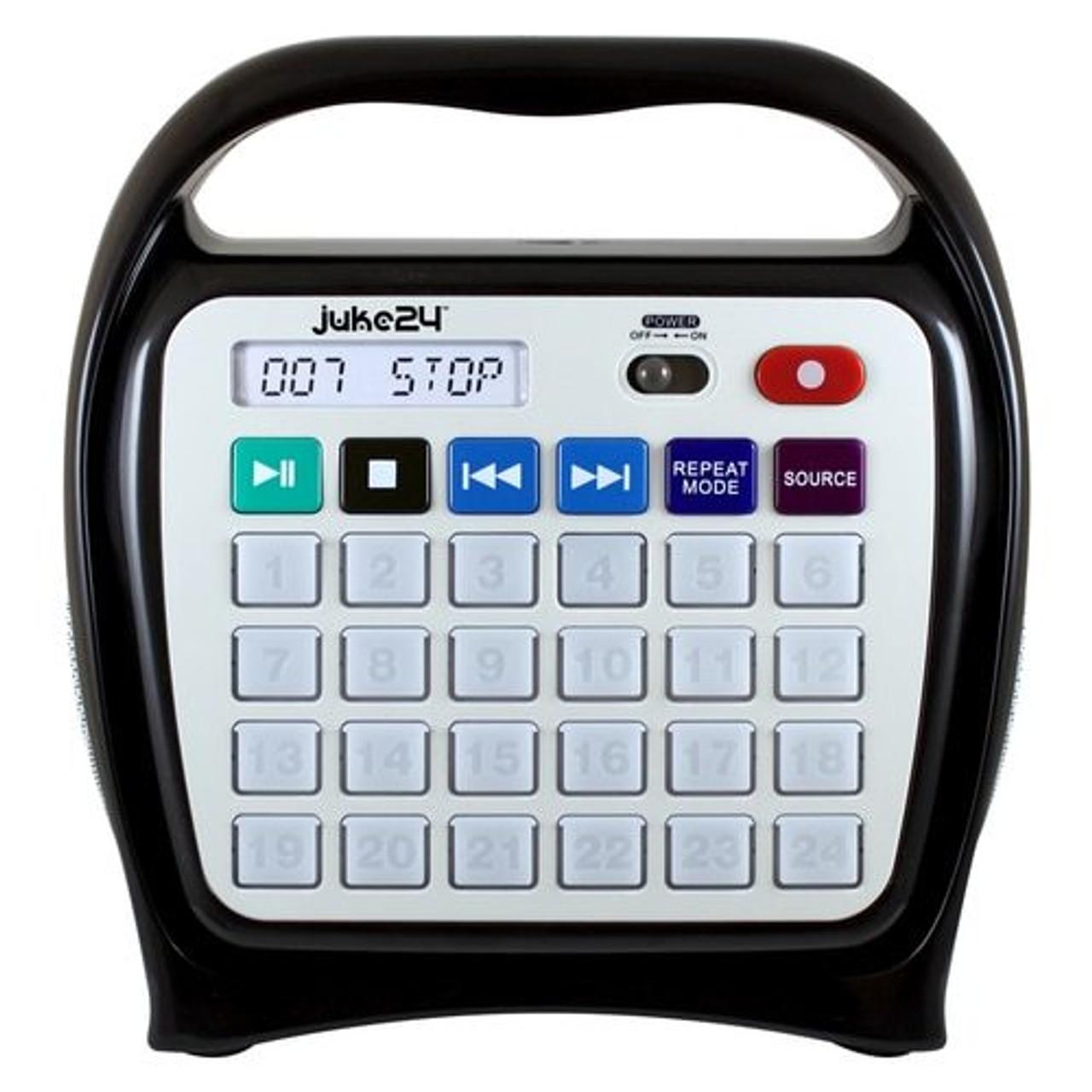 HamiltonBuhl Juke24 - Portable, Digital Jukebox with CD Player and Karaoke  Function - Black/Gray