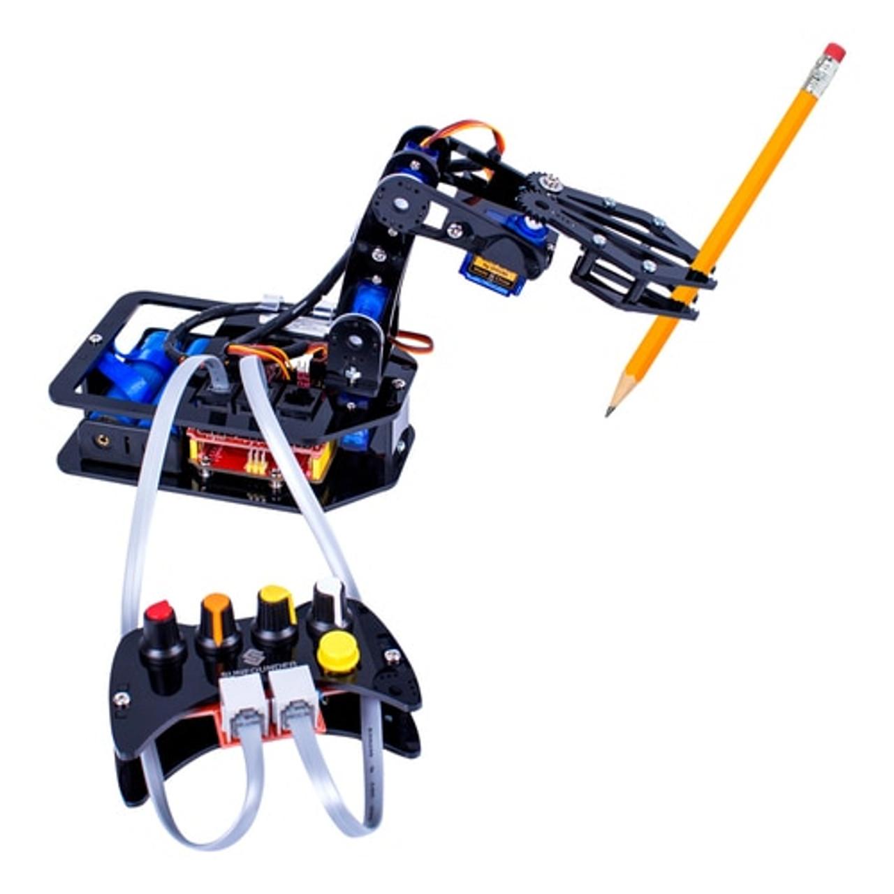 STEAM Robo-Arm Kit for Arduino - Programmable 4-Axis Robot Arm