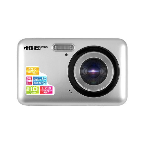"HamiltonBuhl 12MP Digital Camera with Flash and 2.7"" LCD"
