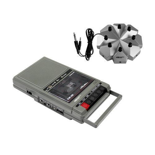 HamiltonBuhl Classroom Cassette Player, 8 Station, 1 Watt