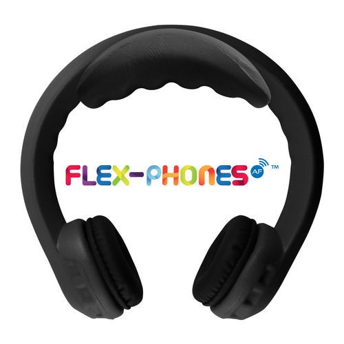 FM Wireless Flex-Phones - Dual-Channel Wireless Headphones For Kids - Black