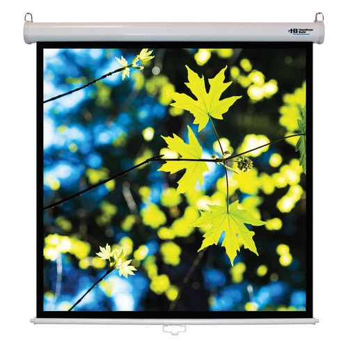"HamiltonBuhl 71"" Diag. (50x50) Manual Pull Down Projector Screen, Square Format, Matte White Fabric"