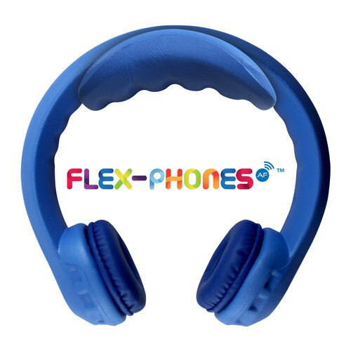 FM Wireless Flex-Phones - Dual-Channel, Wireless Headphones - Blue
