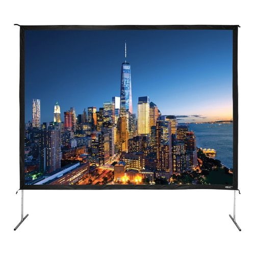 "HamiltonBuhl 180"" Diag. (108x144) Folding Frame Screen with Case, Video Format, Matte White Fabric"