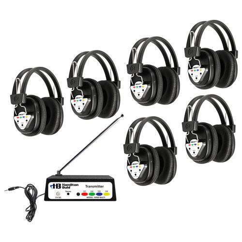 listening center and headphones