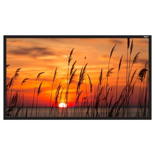 "HamiltonBuhl 120"" Diag. (59x105) Fixed Frame Projector Screen, HDTV Format, Matte White Fabric"