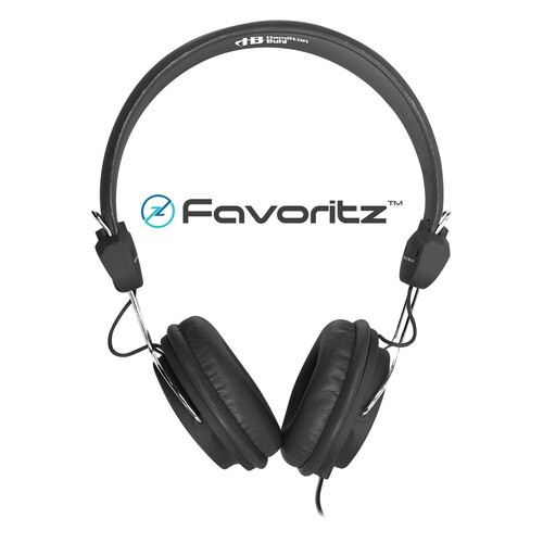 HamiltonBuhl Favoritz TRRS Headset with In-Line Microphone - Black